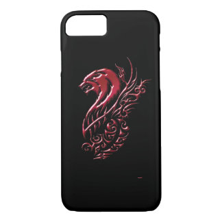 Negro del lobo rojo funda iPhone 7