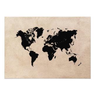 negro del mapa del mundo foto