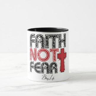 Negro del miedo de la fe no taza combinada de 11