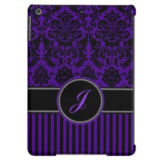 Negro del monograma, caja púrpura del aire del iPa