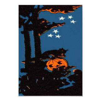 Negro del naranja del gato de la linterna de Jack Invitación 8,9 X 12,7 Cm