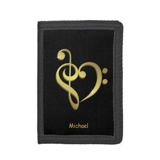 Negro del nombre del amor del corazón de la música