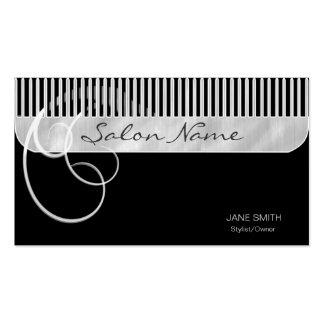 Negro del peine y de los rizos tarjetas de visita