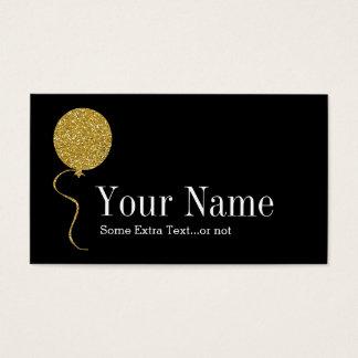 Negro del planificador del fiesta del tarjeta de visita