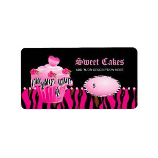 Negro del rosa color de rosa del tigre de la etiquetas de dirección