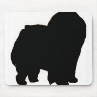 Negro del silo del perro chino de perro chino alfombrilla de ratón