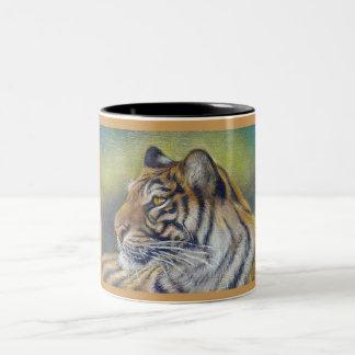 Negro del tigre taza del Dos-Tono de 11 onzas
