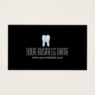 Negro dental del llano del dentista del diente 3D Tarjeta De Visita