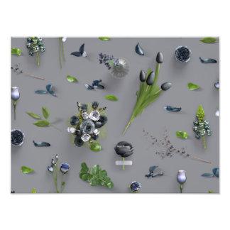Negro dispersado de las flores fotos