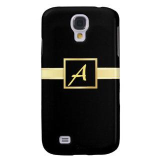 Negro ejecutivo - caso del monograma iPhone3g del Funda Para Samsung Galaxy S4