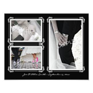 Negro elegante/blanco 11 x collage de la foto que