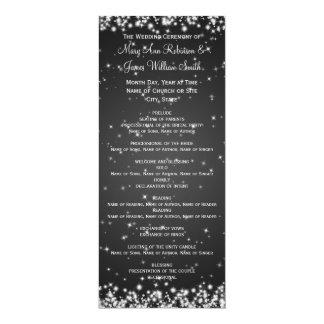 Negro elegante de la chispa del invierno del invitación 10,1 x 23,5 cm