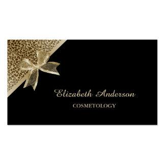 Negro elegante de la cosmetología y cinta del tarjeta personal
