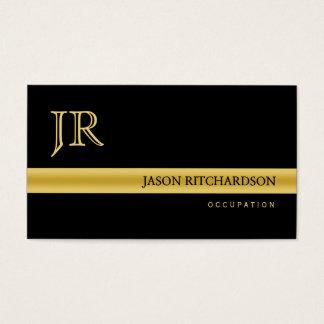 Negro elegante profesional y oro de la tarjeta de