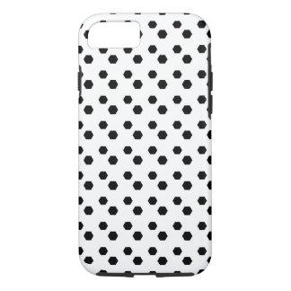 Negro en el diseño blanco del punto funda iPhone 7