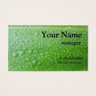 Negro en la hoja verde tarjeta de negocios