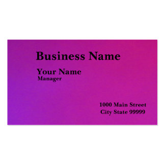 Negro en violeta tarjetas de visita