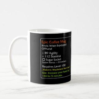 Negro épico de la taza de café