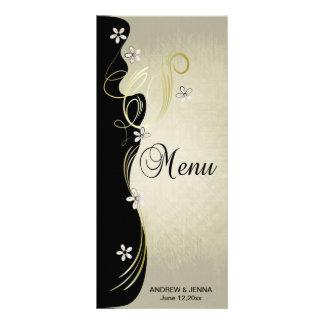 Negro floral de los remolinos el | del vintage, tarjetas publicitarias personalizadas