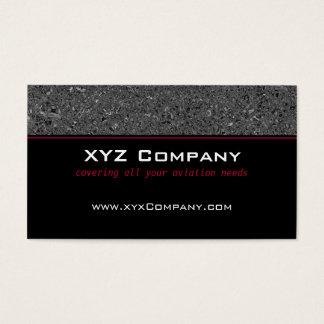 Negro formal (línea roja) tarjeta de negocios