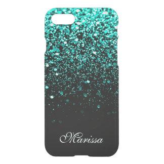 Negro fresco del purpurina verde verde azulado funda para iPhone 8/7