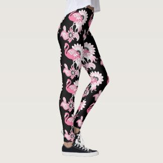 Negro fresco femenino del modelo rosado del leggings