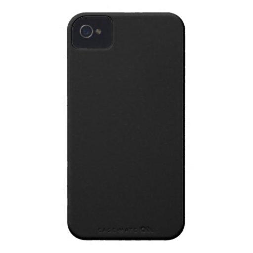 Negro Case-Mate iPhone 4 Protectores