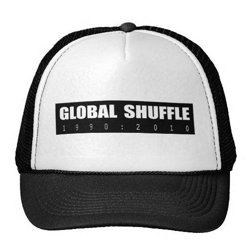 Negro global de la barajadura gorros