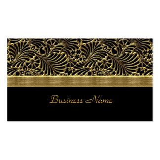 Negro grabado en relieve damasco con clase elegant plantilla de tarjeta de negocio