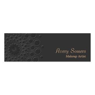 Negro grabado en relieve elegante del artista de tarjetas de visita mini