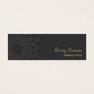 Negro grabado en relieve elegante del artista de tarjeta de visita pequeña