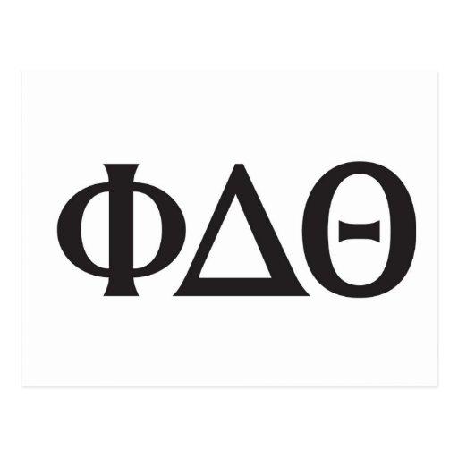 Negro griego de las letras tarjeta postal