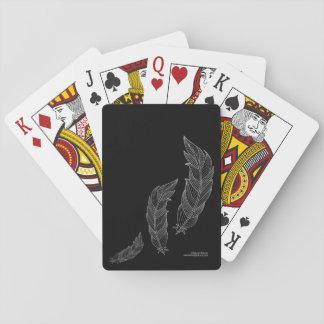 Negro gris del esquema del ejemplo del arte de la baraja de cartas