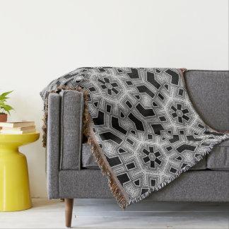 Negro gris+Modelo geométrico blanco NoColor #9 Manta