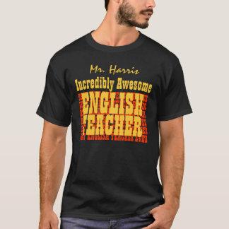 Negro impresionante increíble del personalizado camiseta