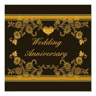 Negro, invitación floral del aniversario del cobre