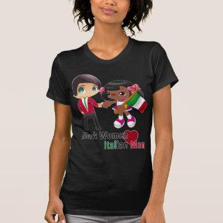 Negro italiano de la camiseta de los hombres de