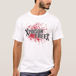 Negro libre y rojo del veneno camiseta