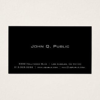 Negro llano elegante simple profesional tarjeta de negocios