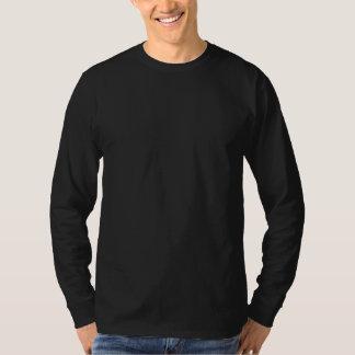 Negro llano envuelto de largo > camisetas para