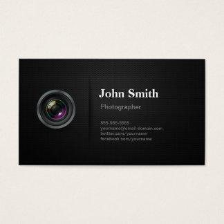 Negro llano profesional - fotógrafo de la cámara tarjeta de negocios