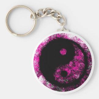 Negro magenta de Yin Yang los regalos de Zazzle de Llavero Redondo Tipo Chapa