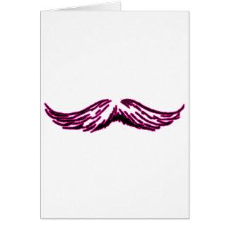 Negro magenta del bigote los regalos de Zazzle del Tarjeta De Felicitación
