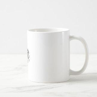 Negro malhumorado de sensación taza de café