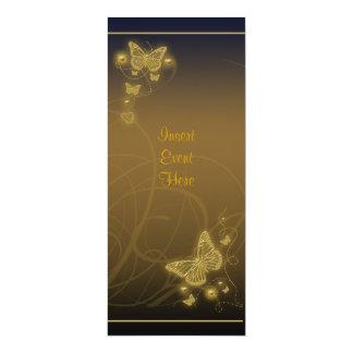 Negro marrón floral del fiesta de la mariposa invitación 10,1 x 23,5 cm