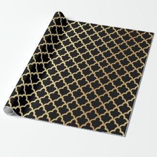 Negro marroquí moderno elegante del enrejado de la papel de regalo