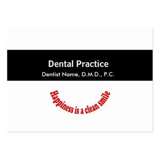 Negro médico de la cita de la odontología rayado tarjetas de visita grandes