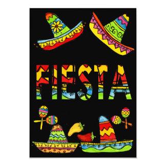 Negro mexicano de las invitaciones de Cinco de Invitación 12,7 X 17,8 Cm