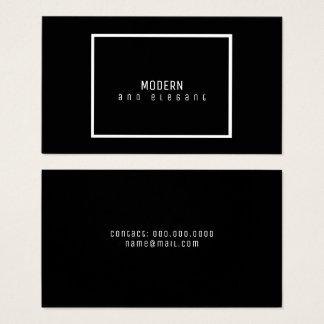 negro minimalista moderno y elegante tarjeta de negocios