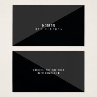 negro mínimo moderno y elegante tarjeta de negocios